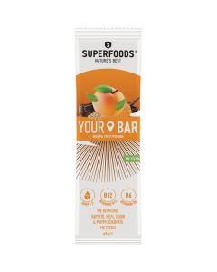 Superfoods Your Bar Μπάρα Υπερτροφών Βερίκοκο & Μαύρη Σοκολάτα & Στέβια 45Gr