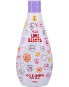 Swizzels Love Hearts Juicy Blueberry Αφρόλουτρο Με Μύρτιλλο 400ml