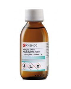 Σύνδεσμος Chemco Lemongrass Essential Oil Αιθέριο Έλαιο Λεμονόχορτο 100ml