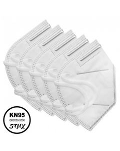Syndesmos Μάσκες Mιας Χρήσης ΚΝ95 FFP2  Χωρίς Βαλβίδα Εκπνοής 5τμχ