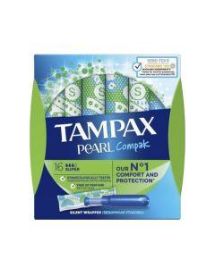 Tampax Pearl Compak Super Ταμπόν Με Απλικατέρ 16Τμχ