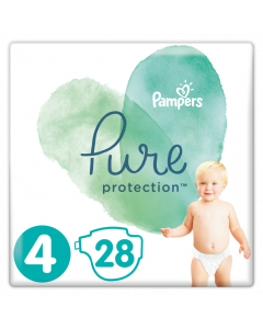 Pampers Pure Protection No 4 (9-14Kg) Βρεφικες Πανες 28 Τεμαχια