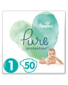 Pampers Pure Protection No 1 (2-5Kg) Βρεφικες Πανες 50 Τεμαχια
