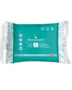 Pharmasept Care & Effect Tol Velvet Hygienic Cleansing Gloves Γαντια Υγιεινου Καθαρισμου10 Τμχ