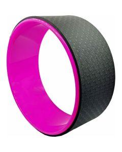 Τροχός Yoga & Pilates Wheel Μαύρο - Ροζ 33 x 13 x 0.6 cm