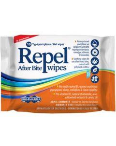 Uni-Pharma Repel After Bite Wipes Καταπραϋντικά μαντηλάκια για μετά από τσιμπήματα 10τμχ