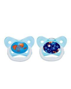 Dr. Brown's Πιπίλα Ορθοδοντική Πεταλούδα Μπλε Επίπεδο 2 (6-18 Μηνών) 2τμχ