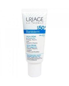 Uriage Bariederm Cica-Cream With Copper-Zinc SPF50+ Επανορθωτική Κρέμα Για Εξασθενημένη Επιδερμίδα 40ml