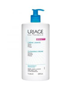 Uriage Creme Lavante Κρέμα Καθαρισμού Χωρίς Σαπούνι Για Πρόσωπο, Σώμα & Μαλλιά 1Lt