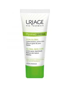 Uriage Hyseac 3-Regul Κρέμα Με 3 Δράσεις Για Ολική Περιποίηση Για Λιπαρές Επιδερμίδες Με Τάση Ακμής 40ml