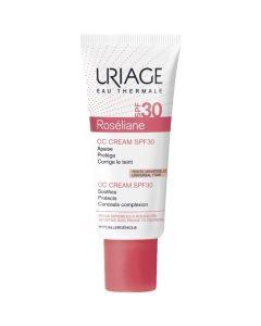 Uriage Roseliane Cc Cream SPF30 Ενυδατική Κρέμα Προσώπου Με χρώμα Για Την Εξισορρόπηση Της Ερυθρότητας 40ml