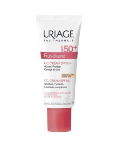 Uriage Roseliane CC Cream SPF50+ Light Tint Ενυδατική Κρέμα Κατά Της Ερυθρότητας Με Χρώμα 40ml