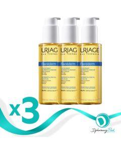 Uriage Bariederm Cica-Oil Λάδι Για Ραγάδες Promo Pack 3x100ml