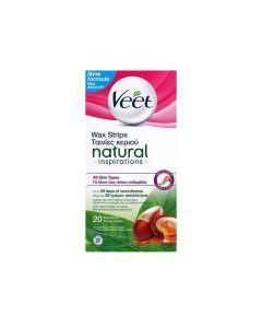 Vεετ® Natural Inspirations Κρύο Κερί Για Όλους Τους Τύπους Δέρματος 20 Τμχ