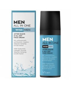 Vican Wise Men All In One After Shave & 24ωρη Κρέμα Ενυδάτωσης 50ml