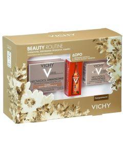 Vichy Πακέτο Promo Set Beauty Routine Σετ Neovadiol Κρέμα Ημέρας Για Κανονικές Μικτές Επιδερμίδες 50ml & Δώρο Complex Night Νυκτός 15ml & Liftactiv Glyco C Αμπούλα 2ml
