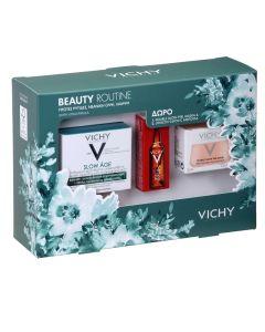 Vichy Πακέτο Promo Set Beauty Routine Σετ Slow Age Αντιγηραντική Κρέμα Προσώπου SPF30 Για Ξηρές Επιδερμίδες 50ml & Δώρο Masque Glow Peel Mask Αναζωογονητική Μάσκα Λάμψης & Απολέπισης 15ml & Liftactiv Glyco-C Night Peel Αμπούλα Αντιγήρανσης 2ml