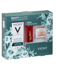 Vichy Πακέτο Promo Set Beauty Routine Σετ Slow Age SPF25 Αντιγηραντική Κρέμα Ημέρας Για Κανονικές - Μικτές Επιδερμίδες 50ml & Δώρο Double Glow Peel Mask Απολεπιστική Μάσκα Προσώπου 15ml & Liftactiv Glyco C Αμπούλα 2ml