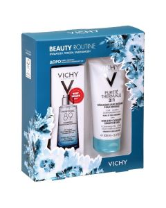Vichy Πακέτο Promo Set Beauty Routine Σετ Mineral 89 Booster Ενυδάτωσης 50ml & Δώρο Vichy Purete Thermale 3 in 1 Γαλάκτωμα Καθαρισμού 100ml