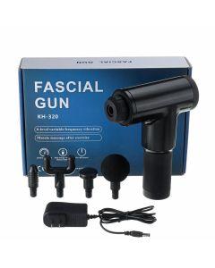 Fascial Gun KH-320 Συσκευή Μασάζ & Ανάκαμψης Μυών Σε Μαύρο Χρώμα 1 Τμχ
