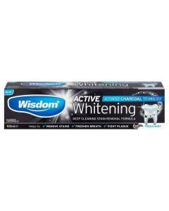 Wisdom Whitening Οδοντόκρεμα Λεύκανσης με Ενεργό Άνθρακα με Γεύση Μέντα 100ml