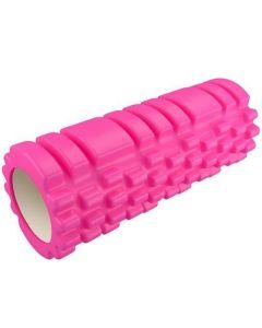 Yoga Roller Κύλινδρος για Pilates και Crossfit 33cm Ροζ 1τμχ