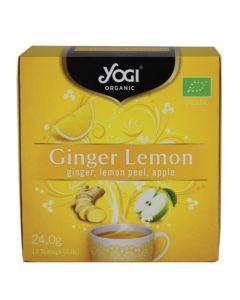 Yogi Organic Tea Ginger Lemon Τσάι με Τζίντζερ, Λεμόνι & Μήλο 12 Φακελάκια