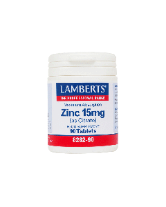 Lamberts Συμπληρωμα Διατροφης Zinc As Citrate 15Mg Maximum Absorption 8282-90 90Tabs