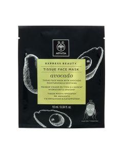 Apivita Express Beauty Tissue Μάσκα Προσώπου Με Αβοκάντο 10ml