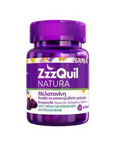 ZzzQuil Natura Συμπλήρωμα Διατροφής Με Μελατονίνη & Βαλεριάνα 30 ζελεδάκια